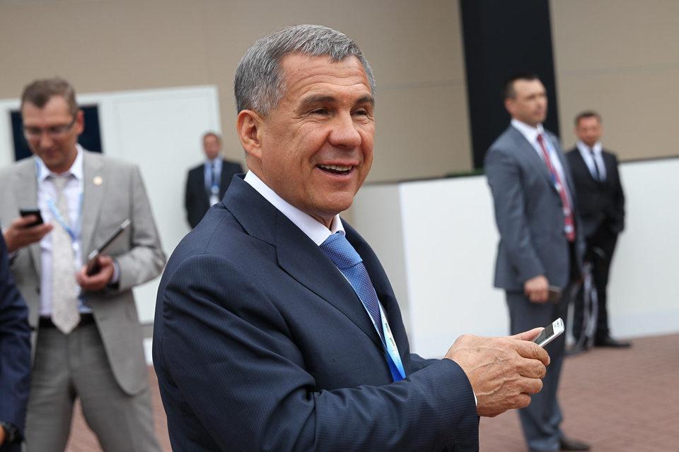 Врио президента Татарстана Рустам Минниханов на Петербургском XIX Международном экономическом форуме