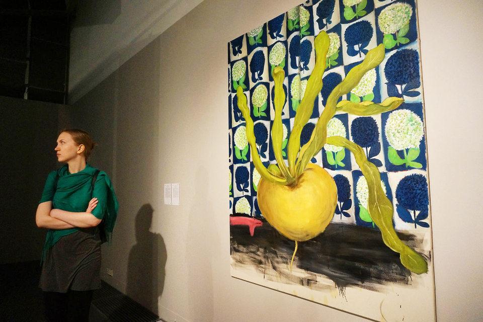 Картина Юрия Лейдермана «Репка и кашалот» теперь хранится в банке