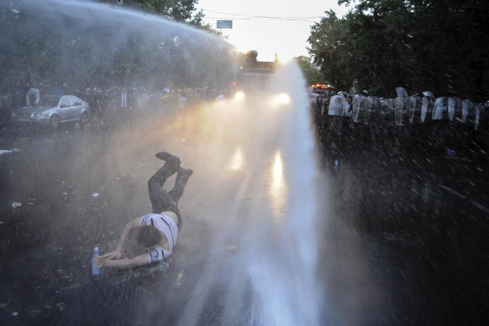 Акция протеста организована движением «Нет грабежу»