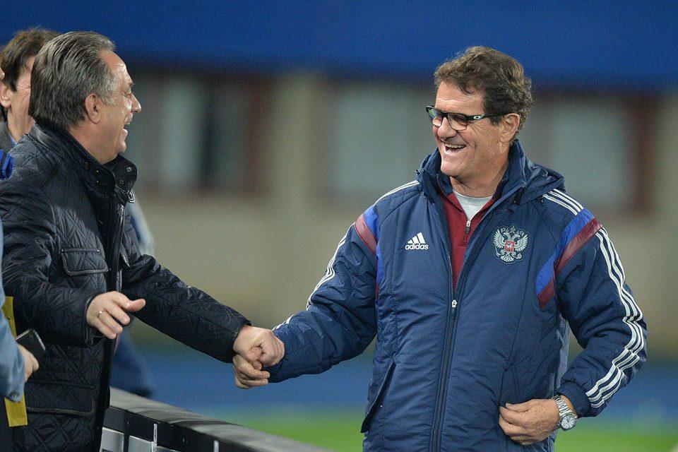 Виталий Мутко (слева) лично взялся уговорить Фабио Капелло снизить неустойку