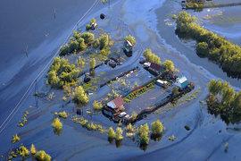 У Нефтеюганска произошел крупный разлив