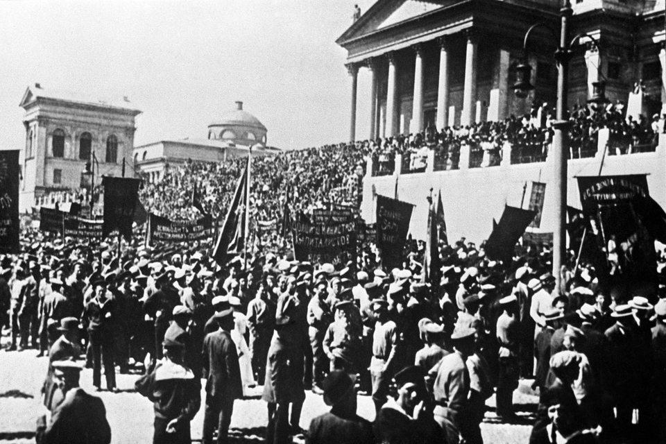 Митинг в Гельсинфорсе (ныне Хельсинки) 18 июня 1917 года