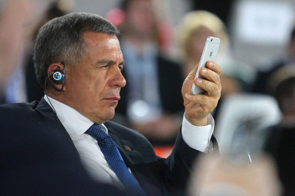 Рустам Минниханов получил 311 из 313 голосов на партконференции ЕР, выдвинувшей его в президенты Татарстана на второй срок