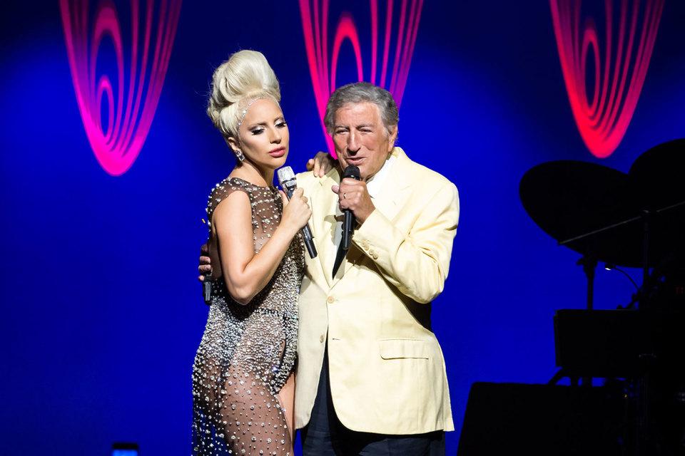 Леди Гага и Тони Беннет выступили слаженным дуэтом, несмотря на разницу в возрасте в 59 лет