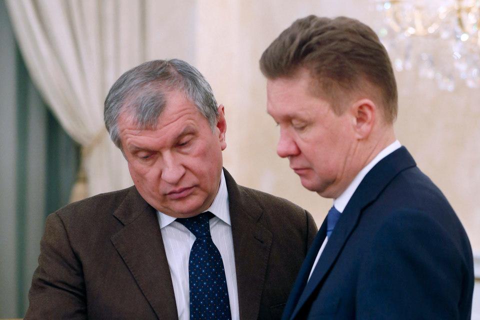 Президент «Роснефти» Игорь Сечин (на фото слева) хочет поделить с предправления «Газпрома» Алексеем Миллером экспорт газа