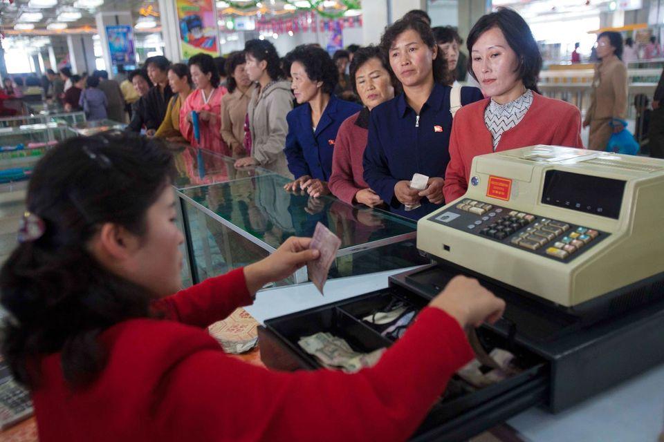 Коммерческих банков в Северной Корее нет, как и статистики о движении капитала