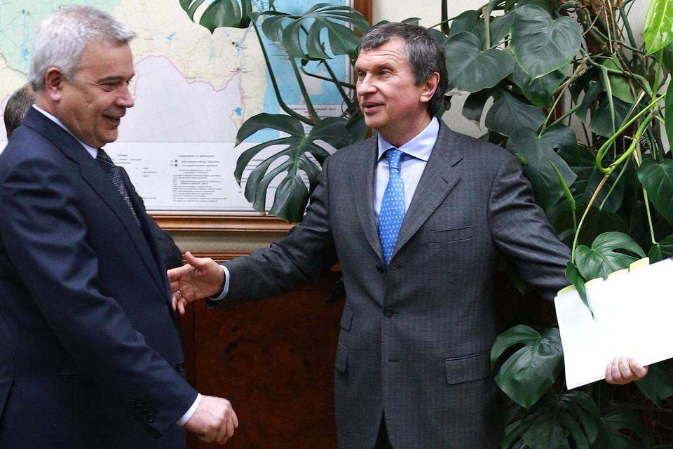 Президент «Лукойла» Вагит Алекперов и президент «Роснефти» Игорь Сечин
