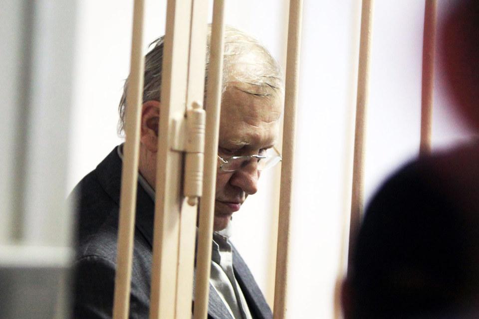 Бывший депутат Госдумы Михаил Глущенко во время заседания в Октябрьском районном суде