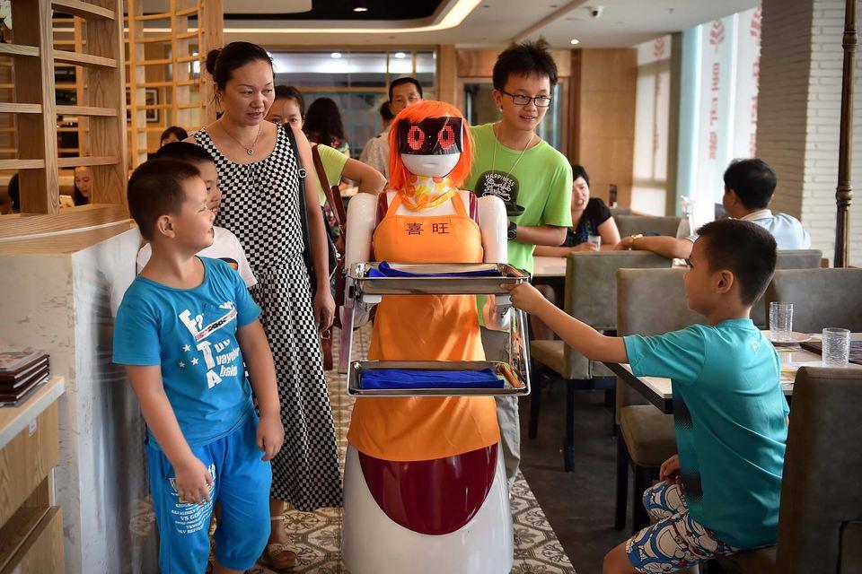 Роботов сегодня можно встретить не только на складе и в цеху,  но и в офисах, школах, гостиницах, ресторанах и банках