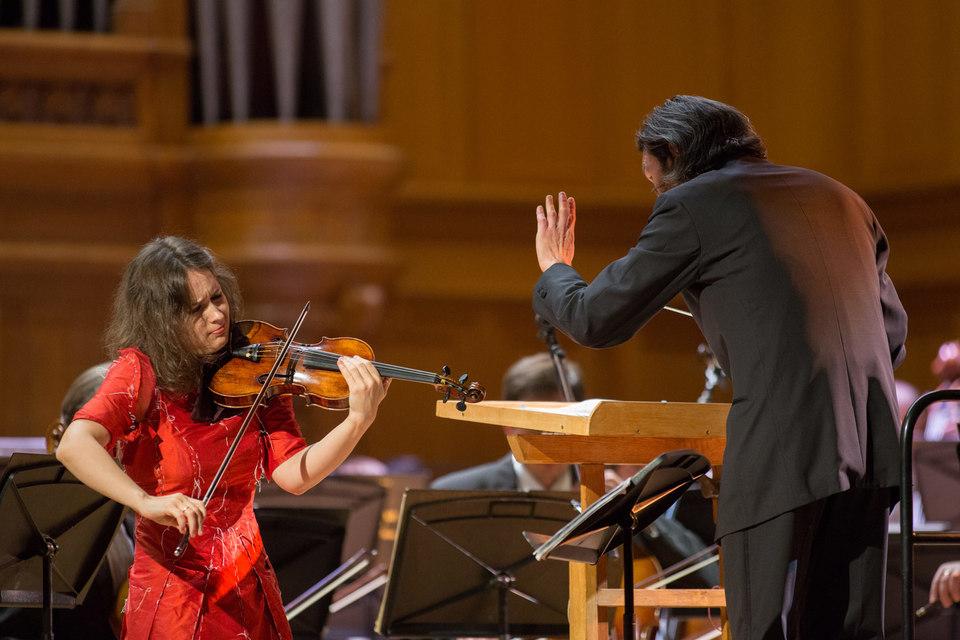 Патриция Копачинская привела публику в восторг исполнением Второго скрипичного концерта Бартока