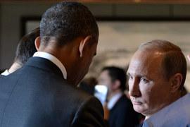С момента предыдущей встречи Барака Обамы (слева) и Владимира Путина на саммите G20 в австралийском Брисбене мировая повестка существенно изменилась