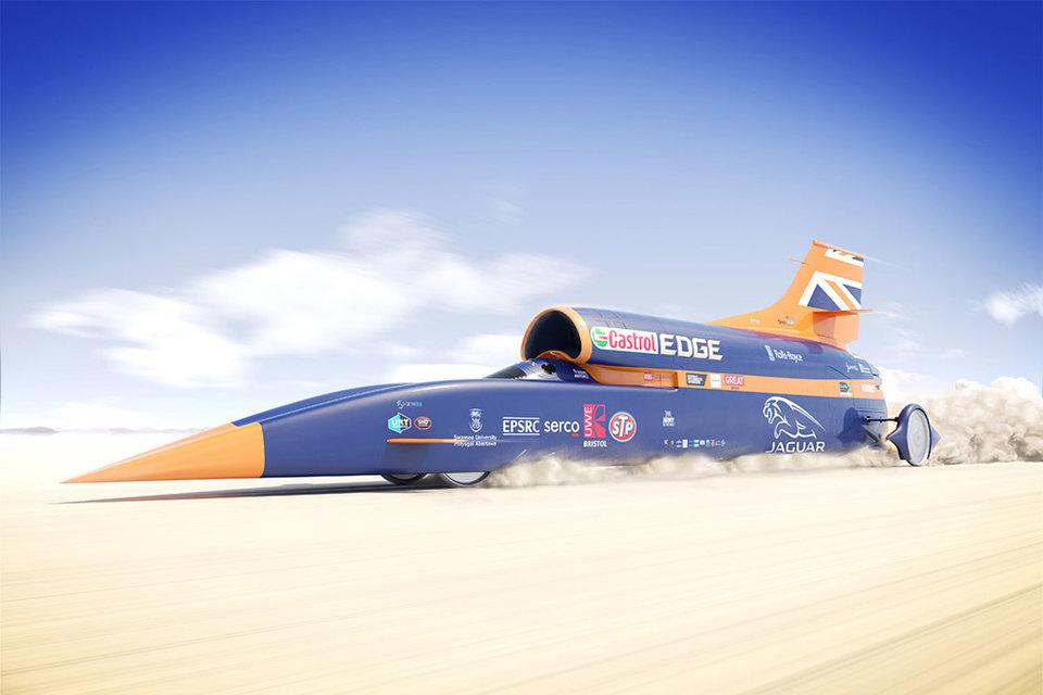 Bloodhound Super-Sonic была создана для того, чтобы побить рекорд скорости другой британской машины, Thrust SSC, которая в 1997 году разогналась до 1228 км/ч