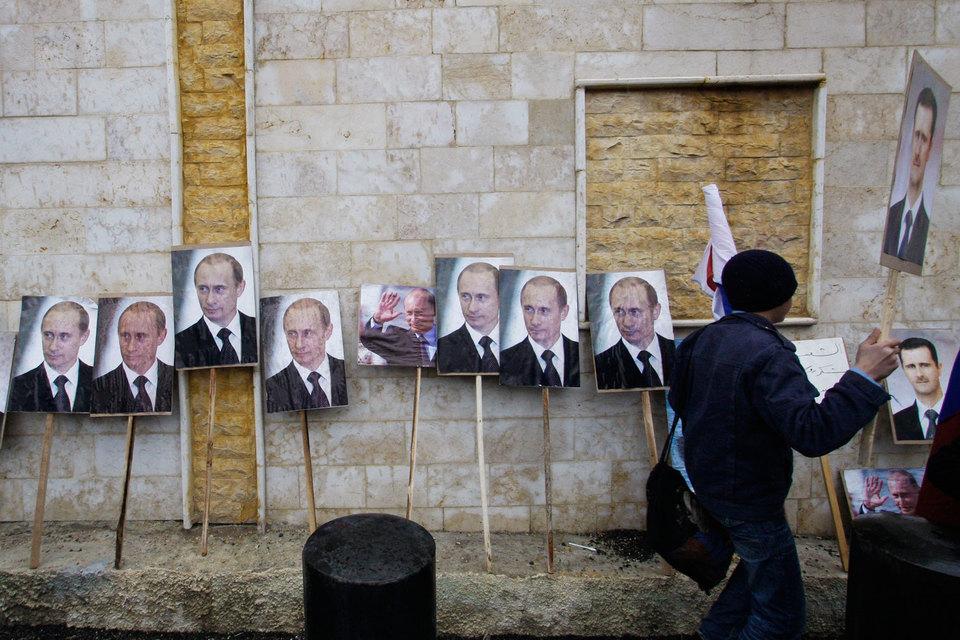 Владимир Путин стал популярным политиком в Сирии