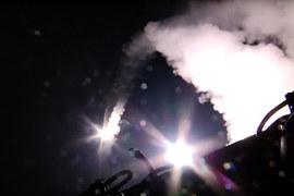 Четыре корабля Каспийской военной флотилии нанесли удар 26 крылатыми ракетами большой дальности «Калибр» по 11 целям в Сирии