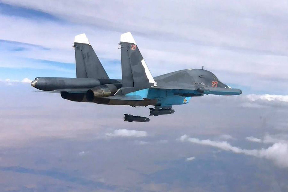 В четверг российское Министерство обороны заявило 22 боевых вылетах в Сирии