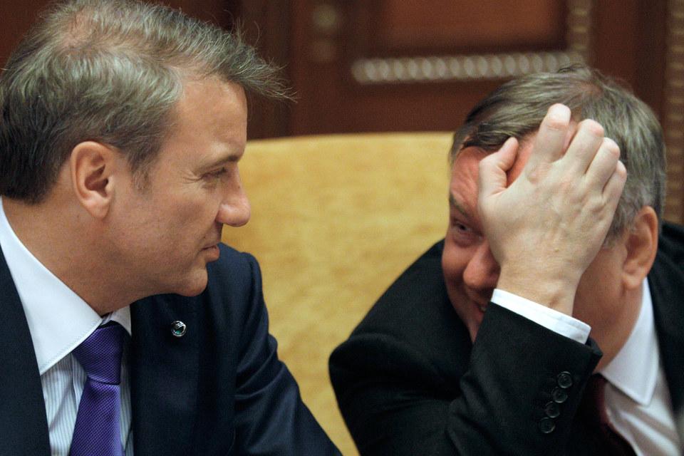 Президент Сбербанка Герман Греф и президент ВТБ Андрей Костин