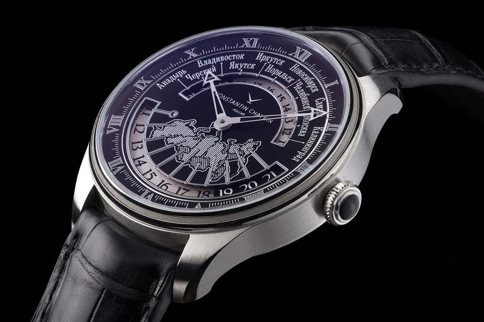 Модель Konstantin Chaykin «Время России» показывает точное местное время и время в титульных городах всех часовых зон