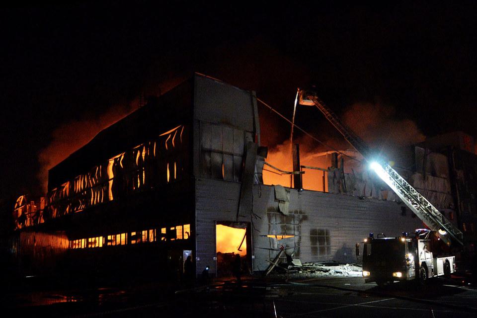 Сгоревший склад и хранившиеся в нем товары не были застрахованы