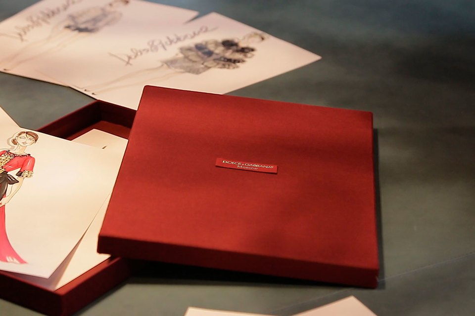 Коллекция Moscow Dolce & Gabbana включает верхнюю одежду, вечерние и повседневные наряды.