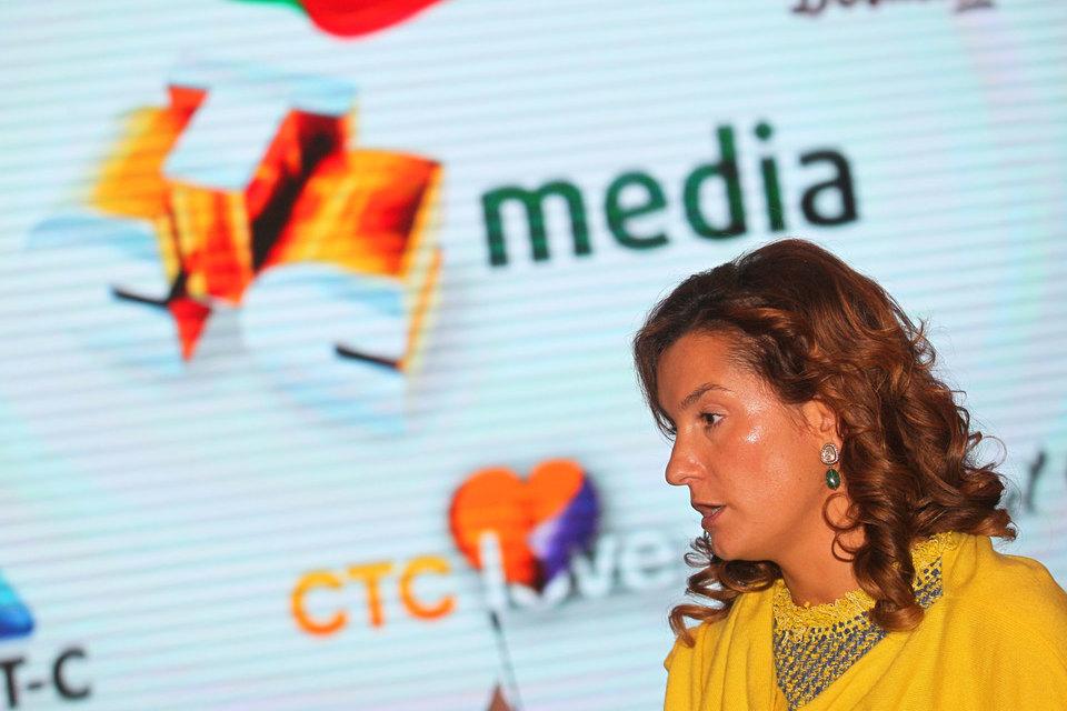 В 2015 г. выручка CTC Media может упасть на 20%, заявляла ранее ген-директор медиахолдинга Юлиана Слащева (на фото)