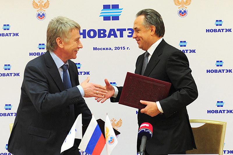 Председатель правления НОВАТЭКа Леонид Михельсон и президент РФС Виталий Мутко