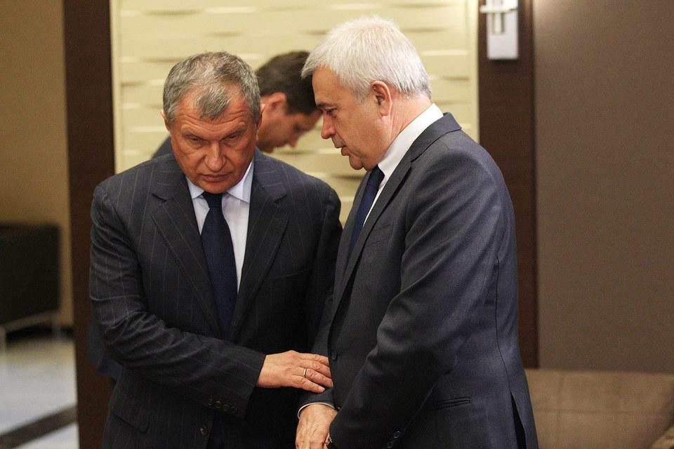 Президент «Роснефти» Игорь Сечин и президент «Лукойла» Вагит Алекперов