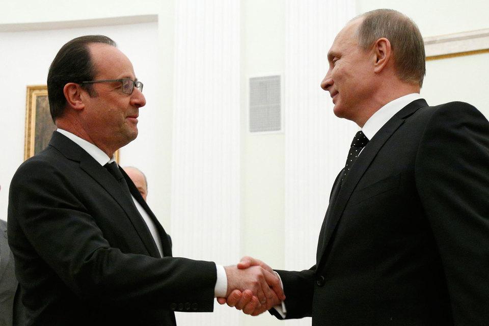Владимир Путин и Франсуа Олланд заявили о необходимости создания широкой международной коалиции против терроризма