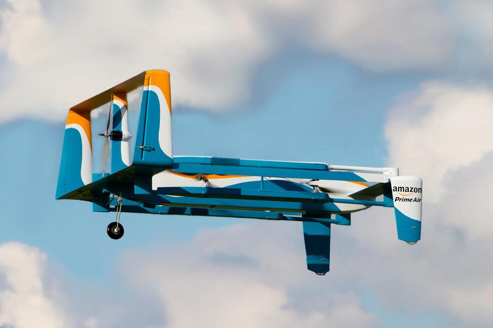 Беспилотник Prime Air может за полчаса доставить товар покупателю прямо в руки