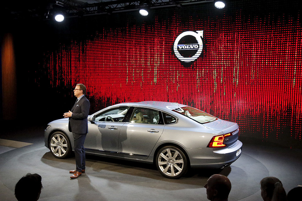 Публичная премьера S90 пройдет на международном автосалоне в Детройте в январе 2016 г.