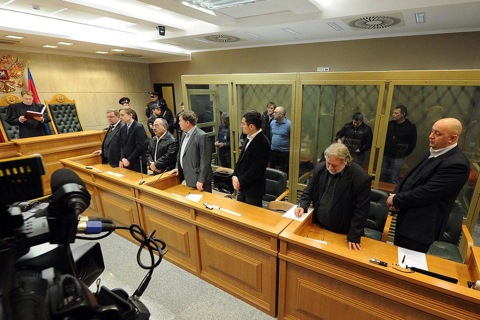 """Оглашение приговора """"банде Цапка"""" в Краснодаре, 2013 г."""