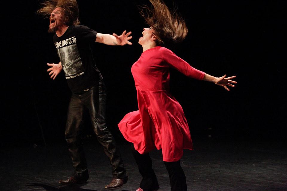 Танцовщица Эрна Омарсдоттир и ее муж-музыкант Владимир Йохансон – самая бешеная пара современной исландской сцены