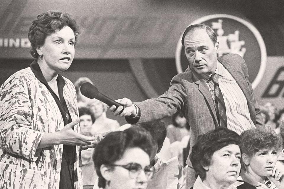 Июнь 1986 г., телемост Ленинград – Бостон «Женщины говорят с женщинами»