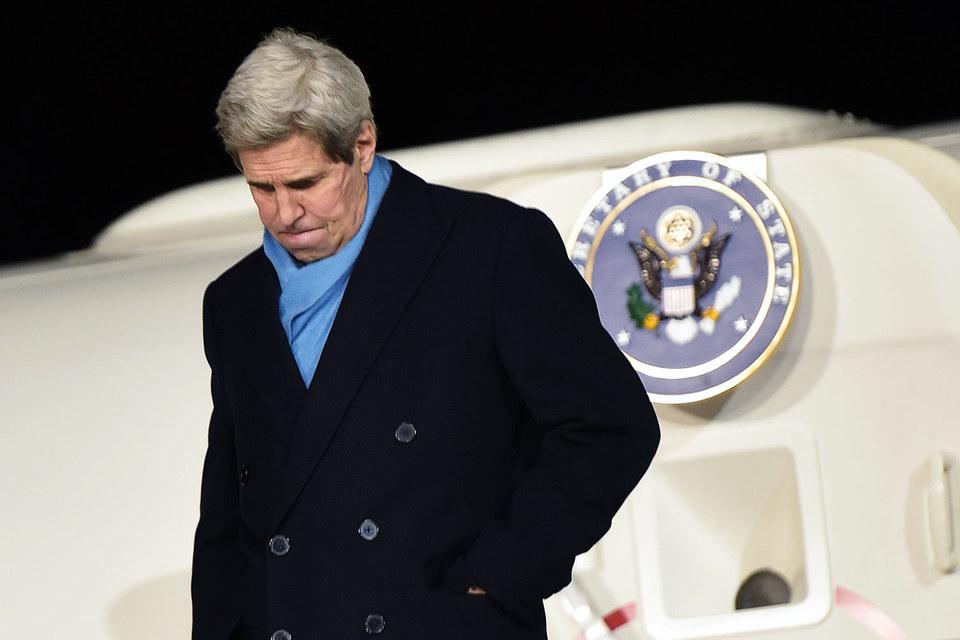 Государственный секретарь США Джон Керри 15 декабря прибыл в Москву с рабочим визитом