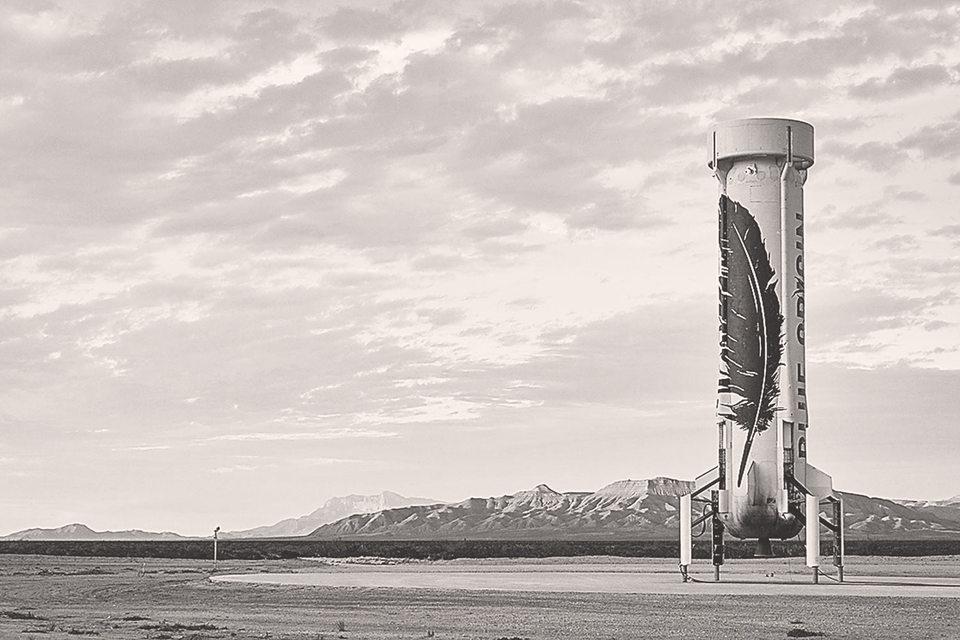 Развитие частного космоса – одно из важнейших технологических изменений 2015–2016 гг., но не в России. На фото: корабль американской компании Blue Origin