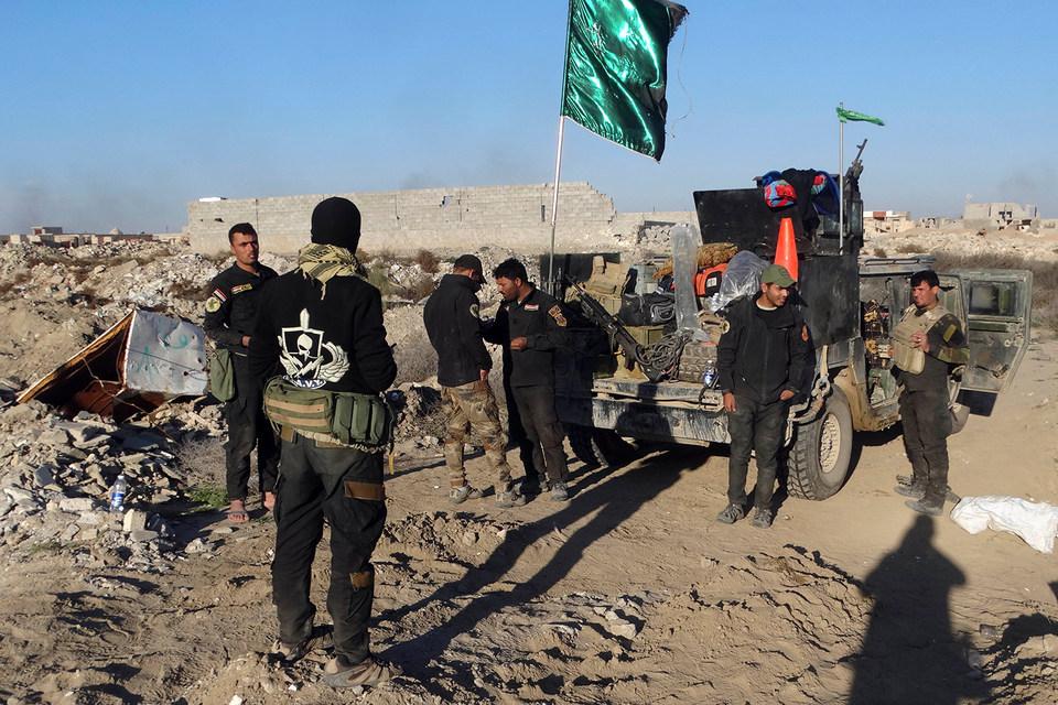 Иракский спецназ в окрестностях Эр-Рамади