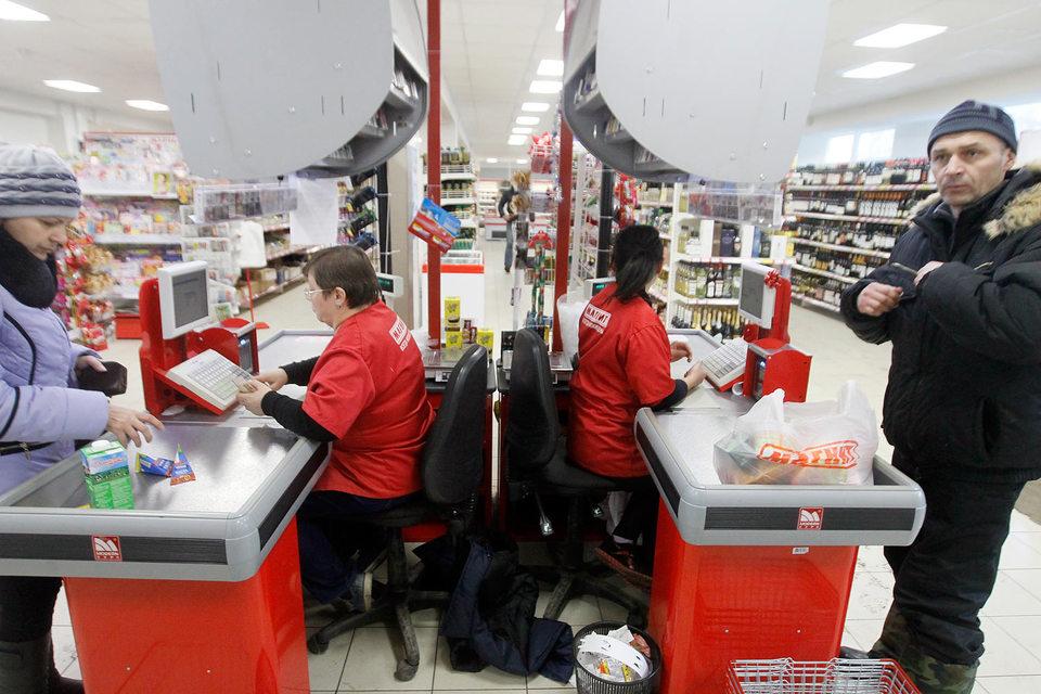 Выручка гипермаркетов «Магнит» за январь выросла на 2,7% до 12,6 млрд руб.