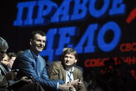 Борис Титов (справа) надеется не повторить ошибок Михаила Прохорова (в центре)