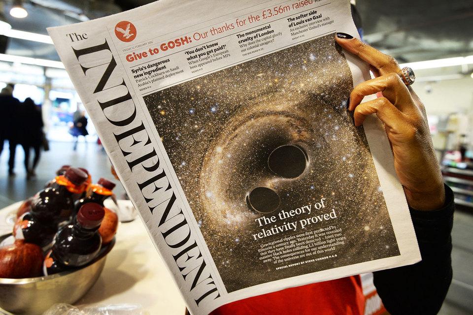 Последний бумажный номер The Independent выйдет 26 марта 2016 г.