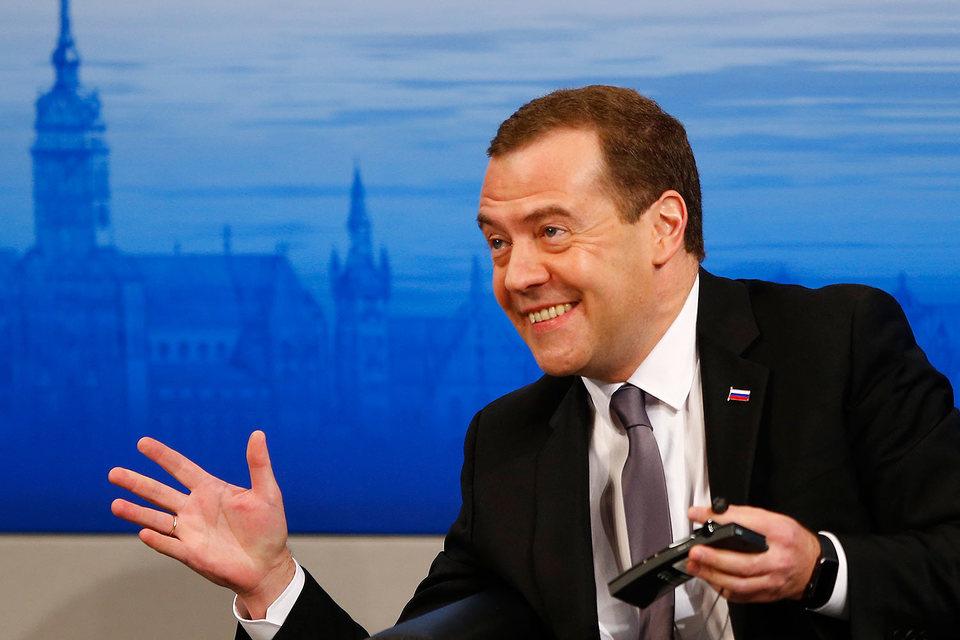 Премьер-министр Дмитрий Медведев на Мюнхенской конференции