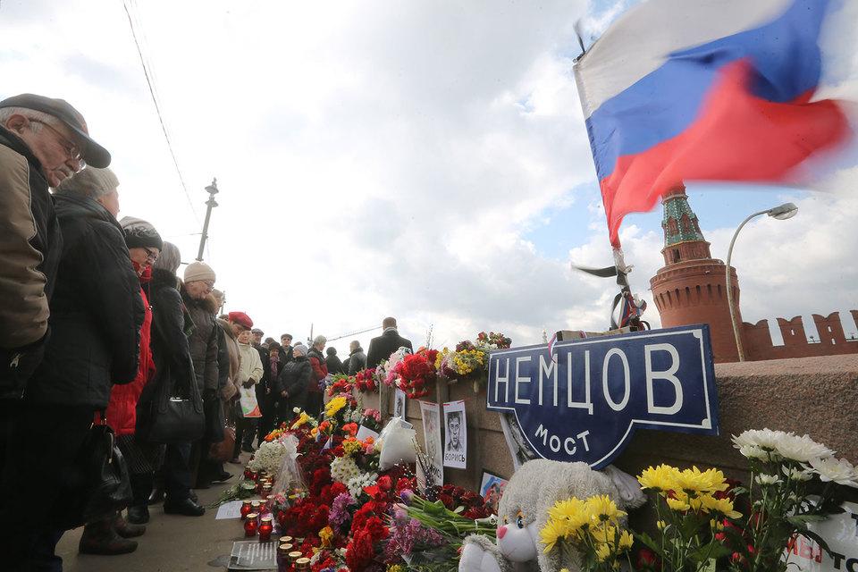 Власти не согласовали марш памяти Немцова на Москворецком мосту