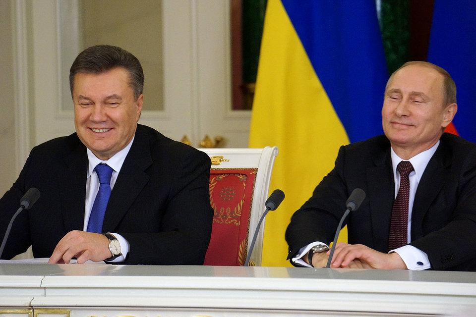 В декабре 2013 г. Владимир Путин и Виктор Янукович договорились о кредите на $15 млрд