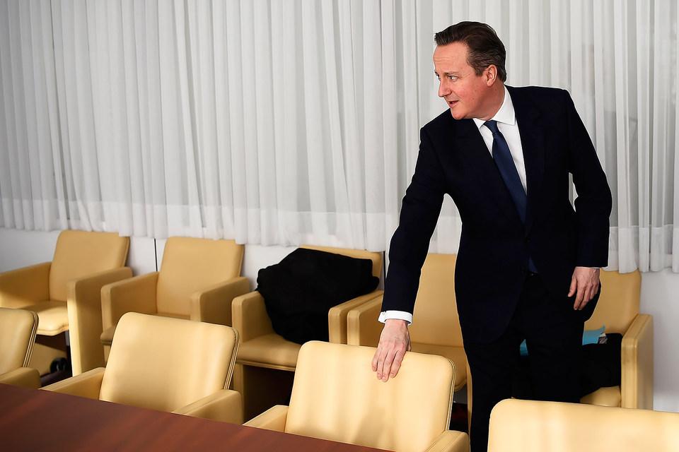Британский премьер Дэвид Кэмерон на двухдневном саммите ЕС в Брюсселе