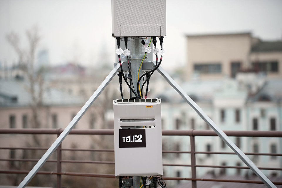 В Москве Tele2 часто использует конструкции на крыше