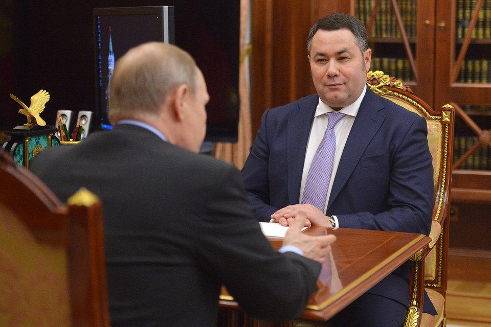 Президент России Владимир Путин назначил исполняющим обязанности губернатора Тверской области Игоря Руденю