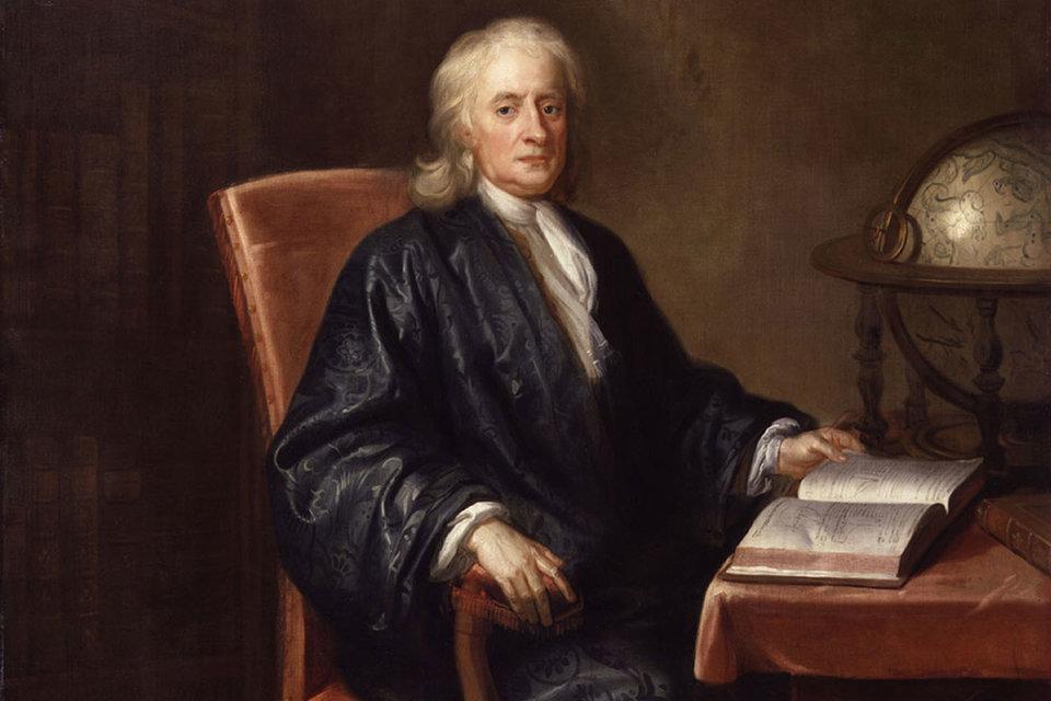 Мастерская Еноха Симена. «Сэр Исаак Ньютон». Около 1726 г. Холст, масло