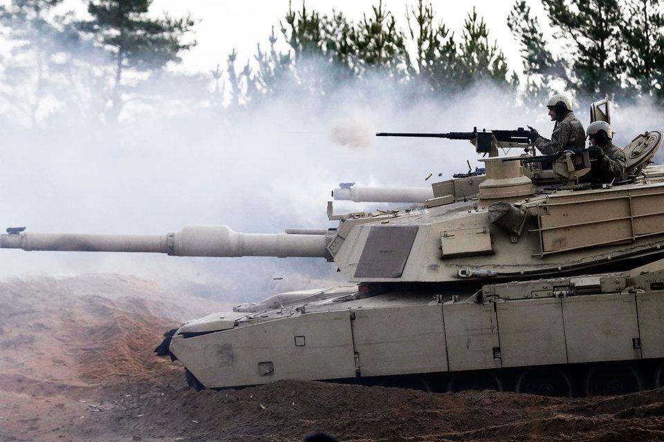Танк M1 Abrams ВС США в Латвии
