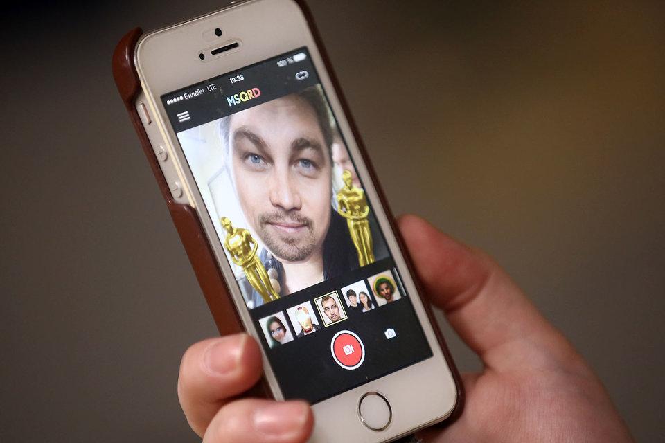 """Во время церемонии вручения """"Оскаров"""" множество пользователей, желающих поддержать актера Леонардо Ди Каприо, накладывали фильтр с его лицом на свои фотографии"""