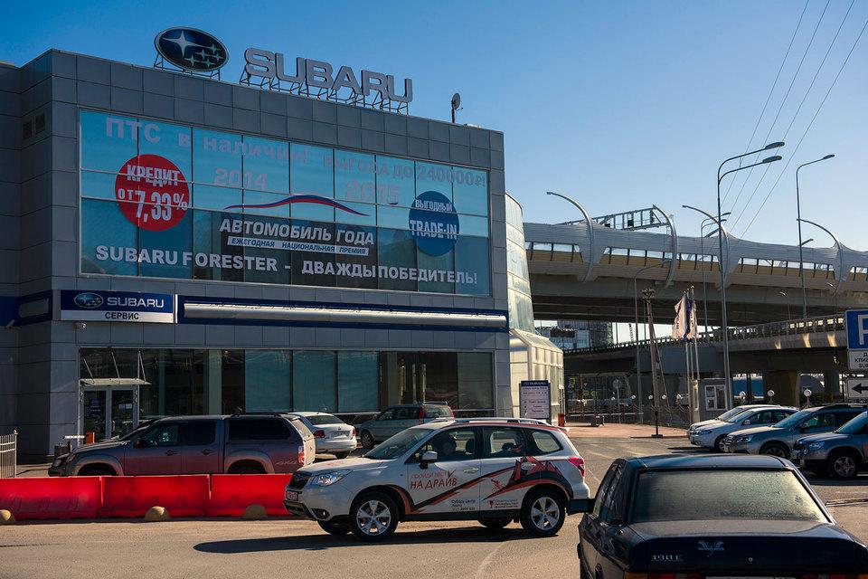Дилерские центры Subaru сложно переделать под другие бренды