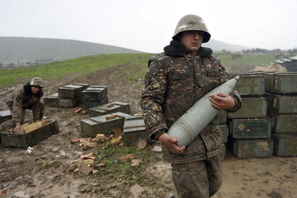 Военнослужащие самопровозглашенной Нагорно-Карабахской республики