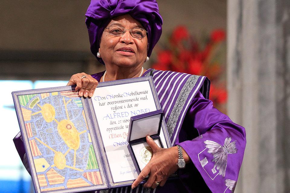 Президент Либерии Эллен Джонсон-Серлиф